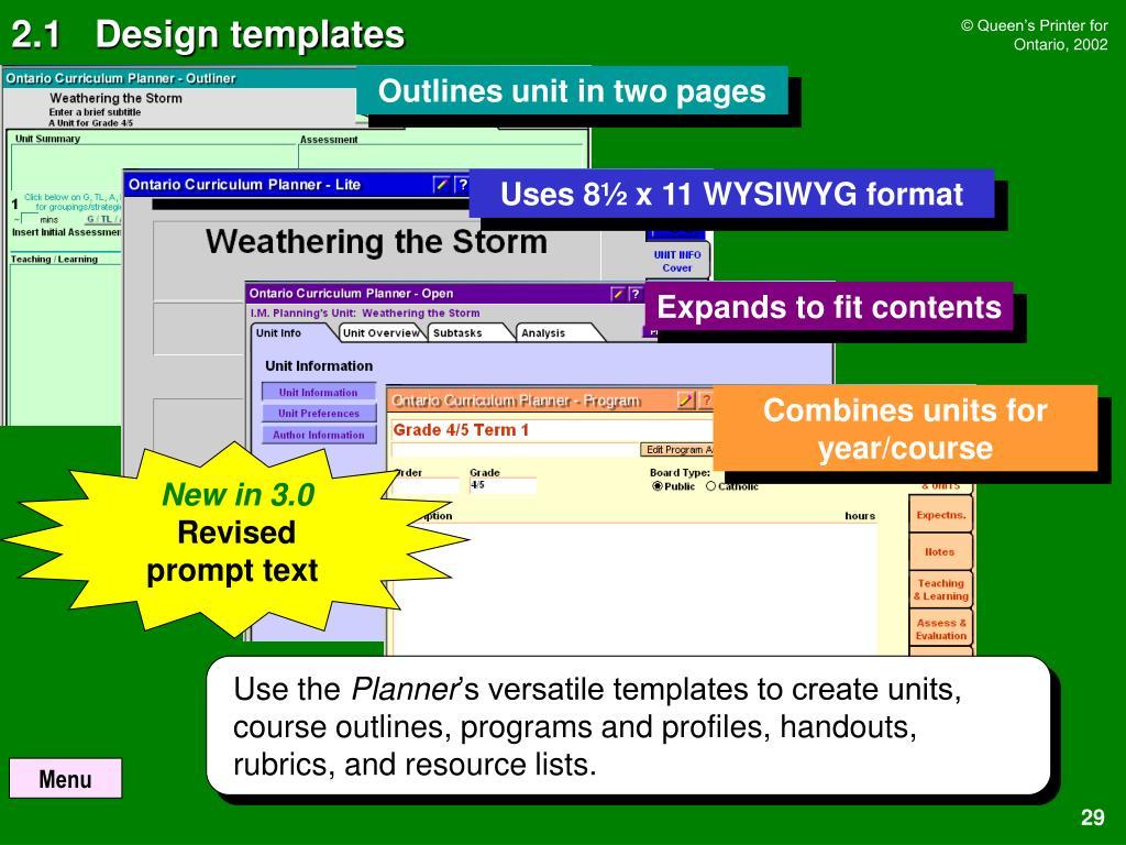 2.1   Design templates
