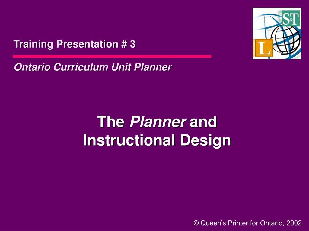 Training Presentation # 3
