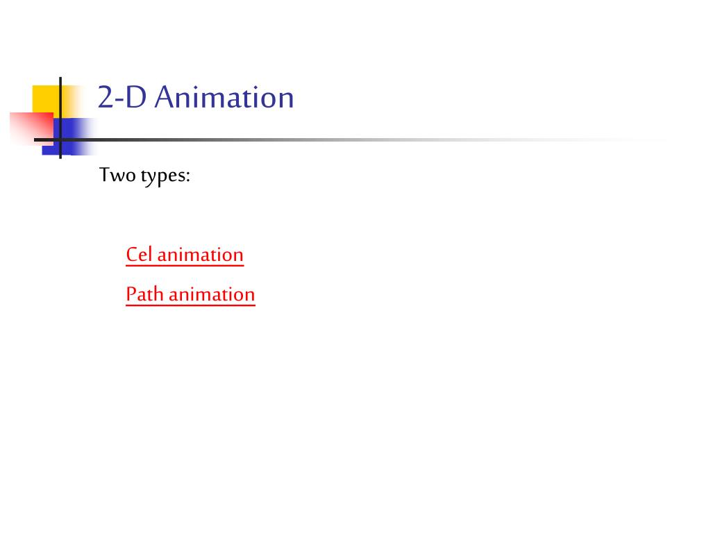 2-D Animation