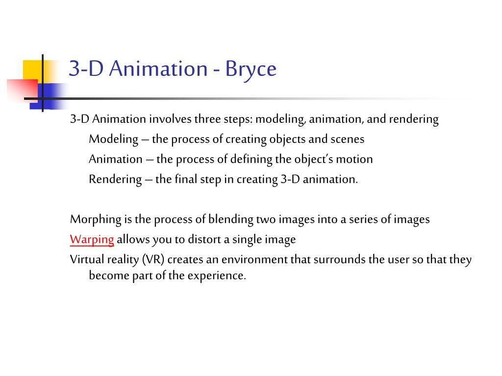 3-D Animation - Bryce
