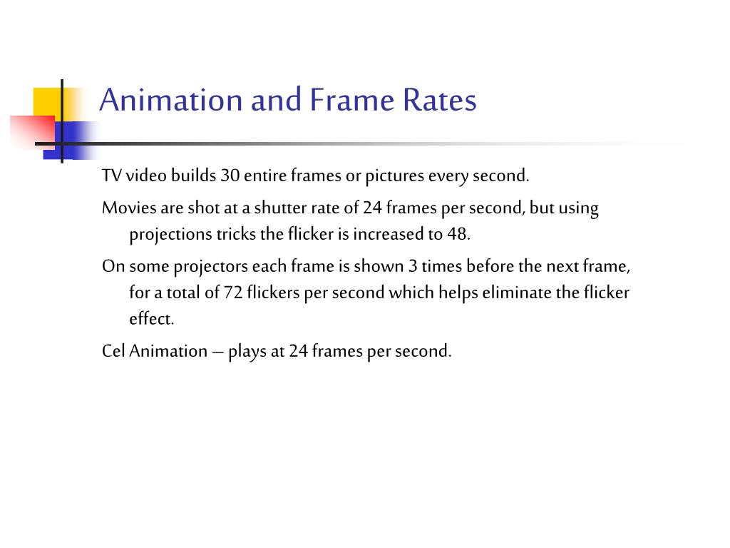 Animation and Frame Rates