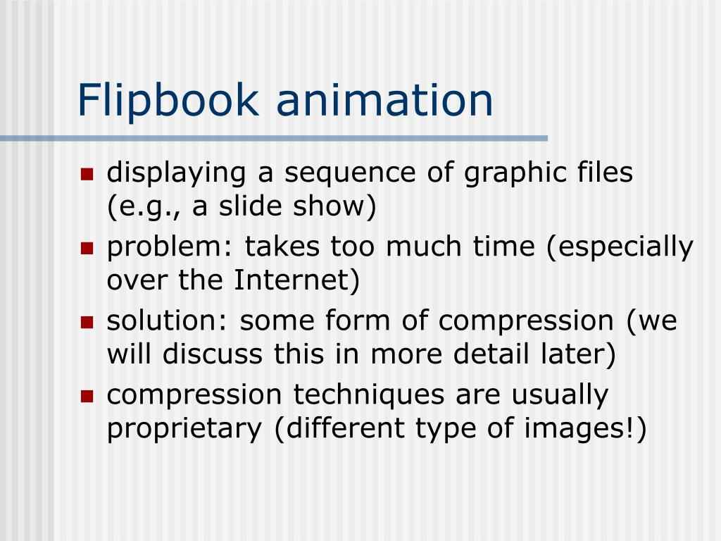 Flipbook animation