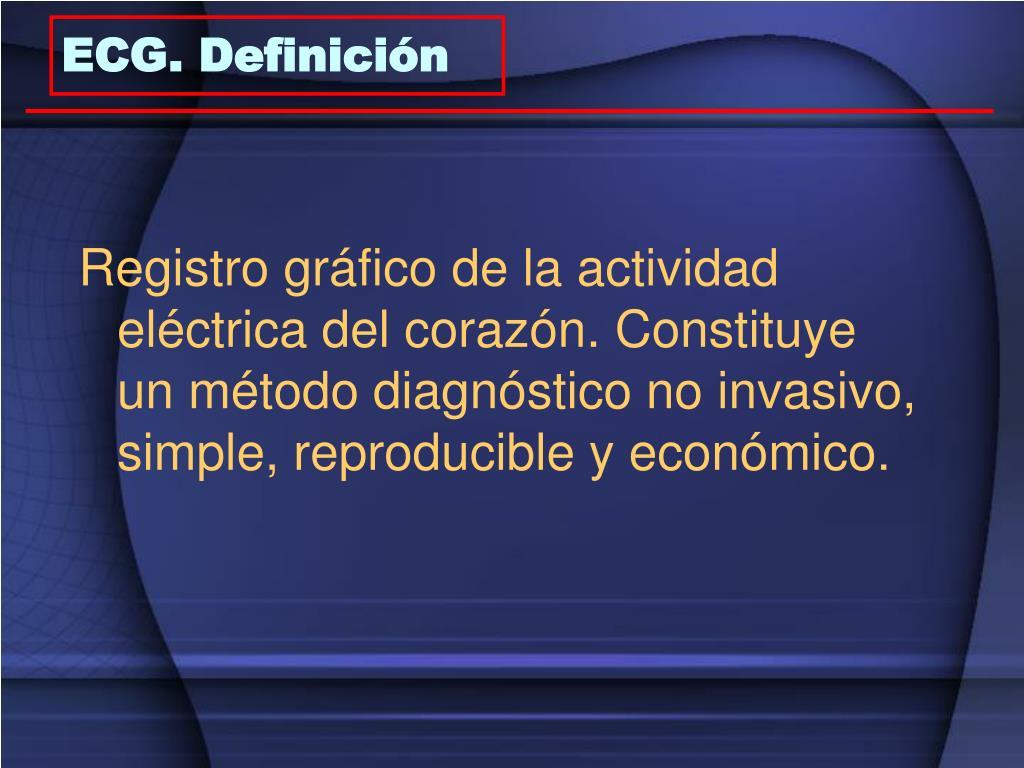 ECG. Definición