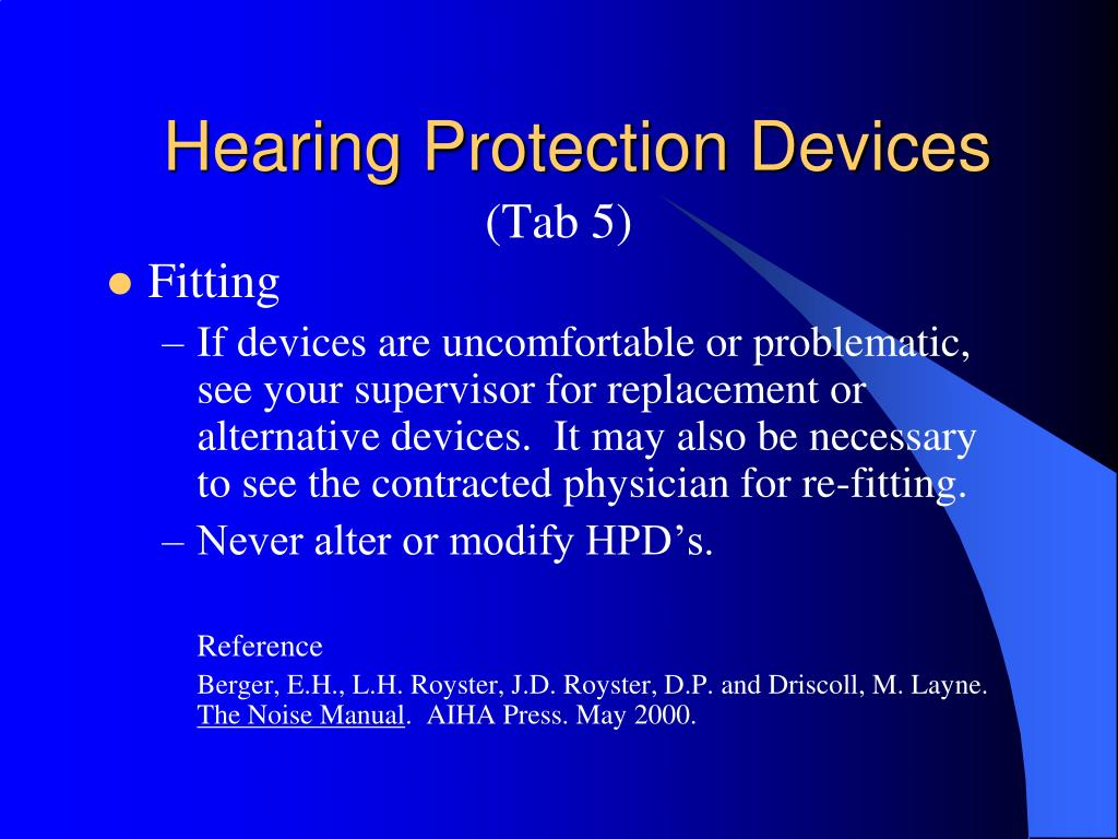 Hearing Protection Devices