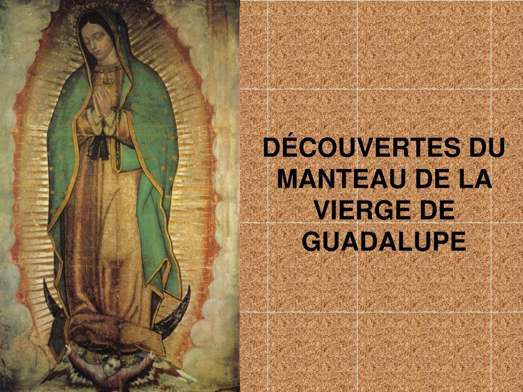 DÉCOUVERTES DU MANTEAU DE LA VIERGE DE GUADALUPE