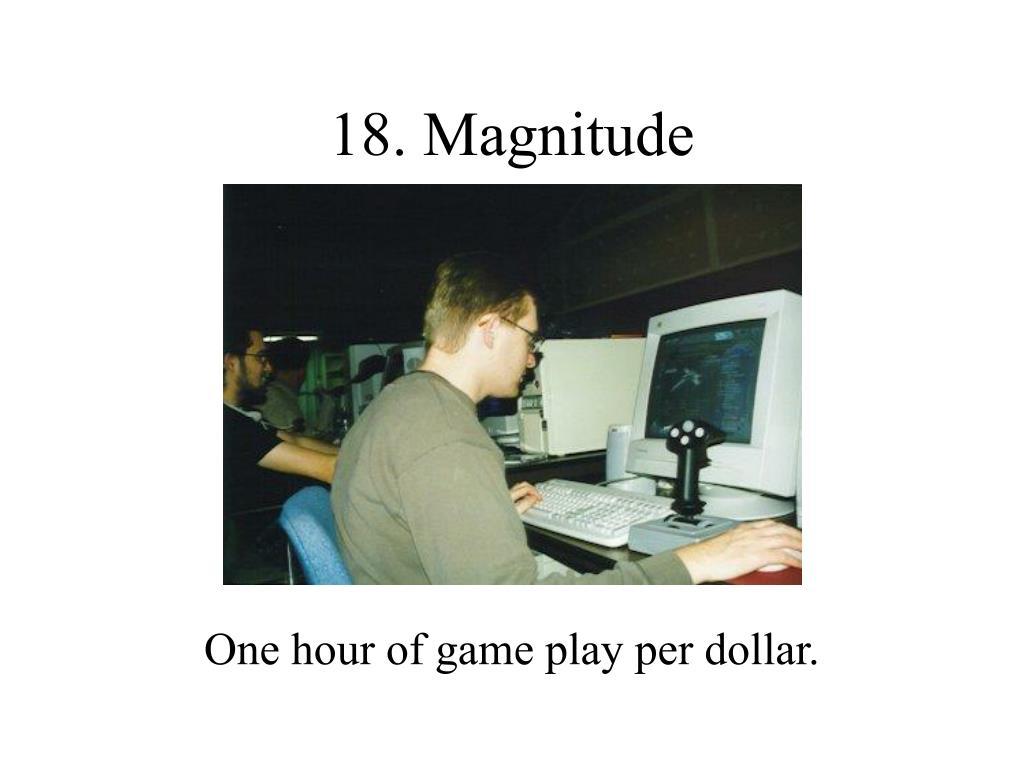 18. Magnitude