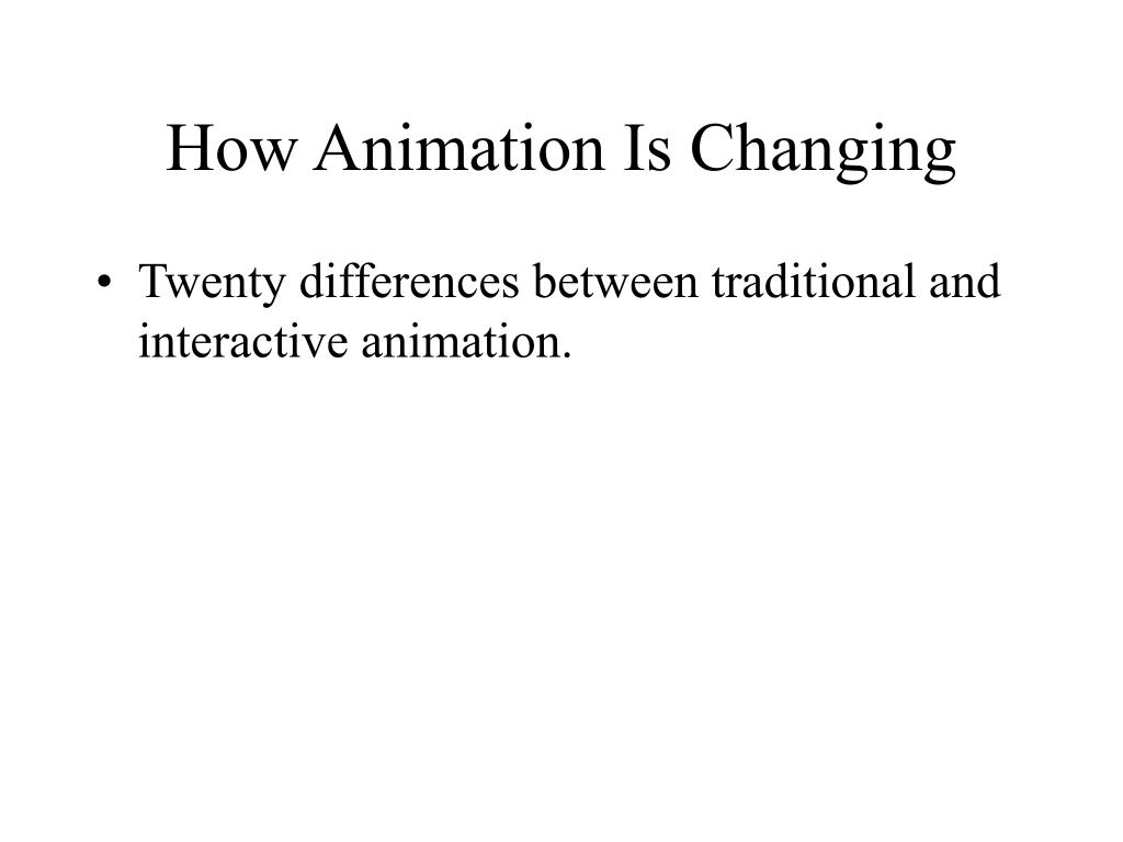 How Animation Is Changing