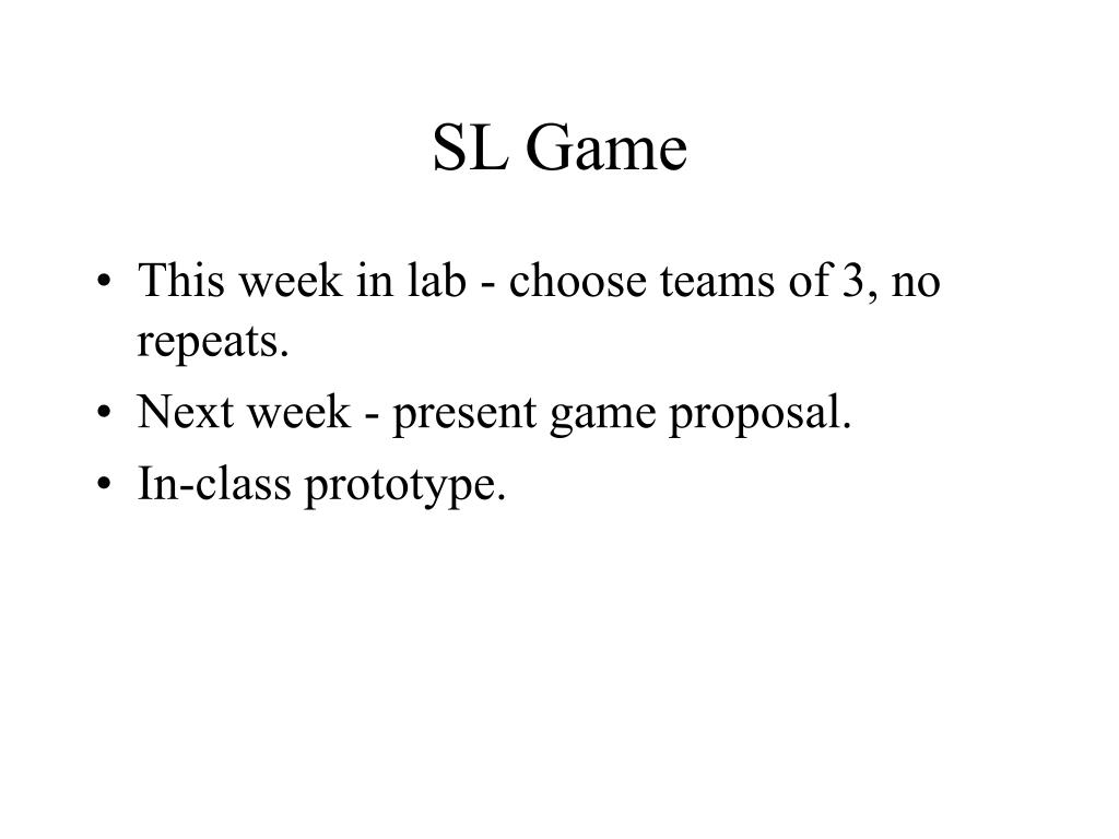 SL Game