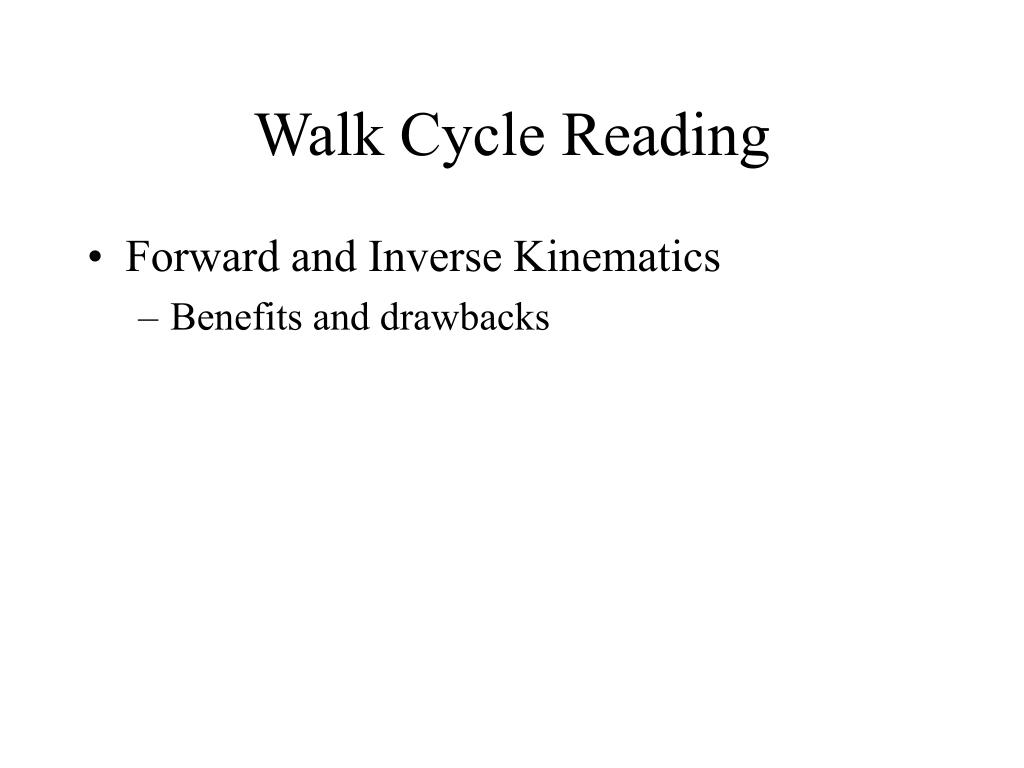 Walk Cycle Reading