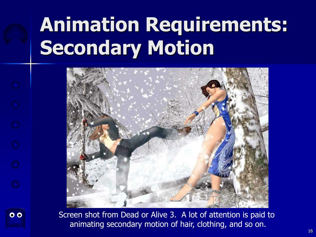 Animation Requirements: