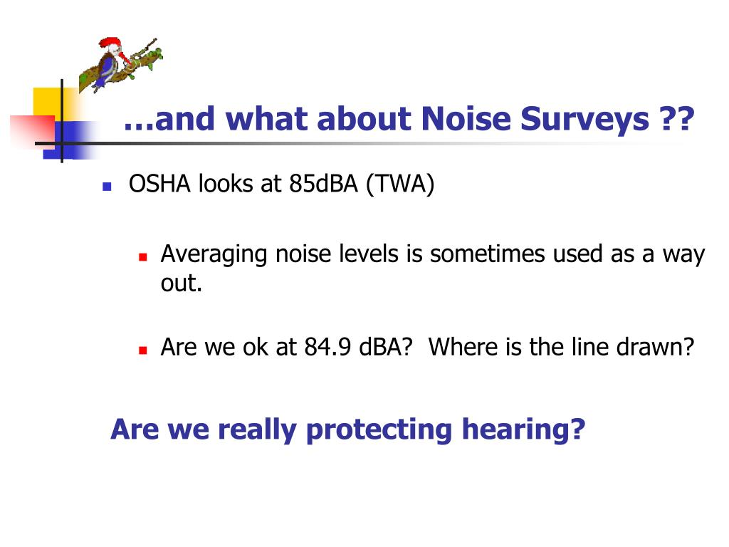 …and what about Noise Surveys ??