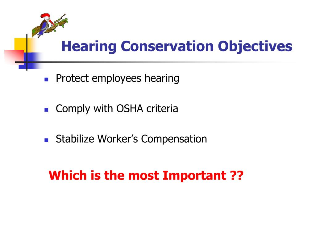 Hearing Conservation Objectives