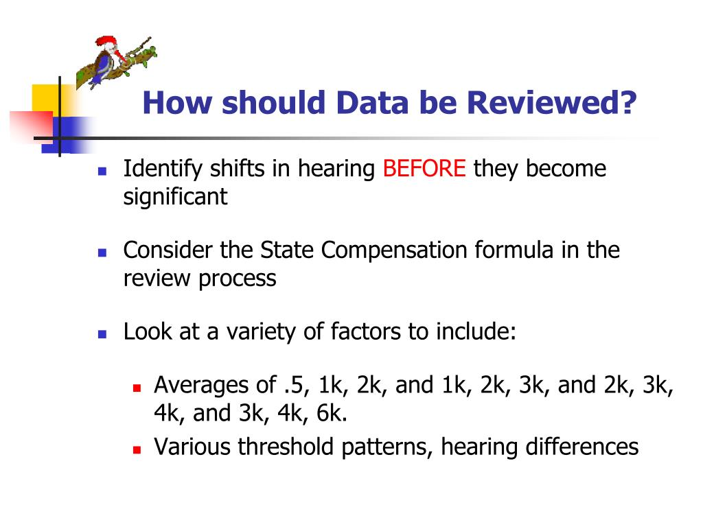 How should Data be Reviewed?