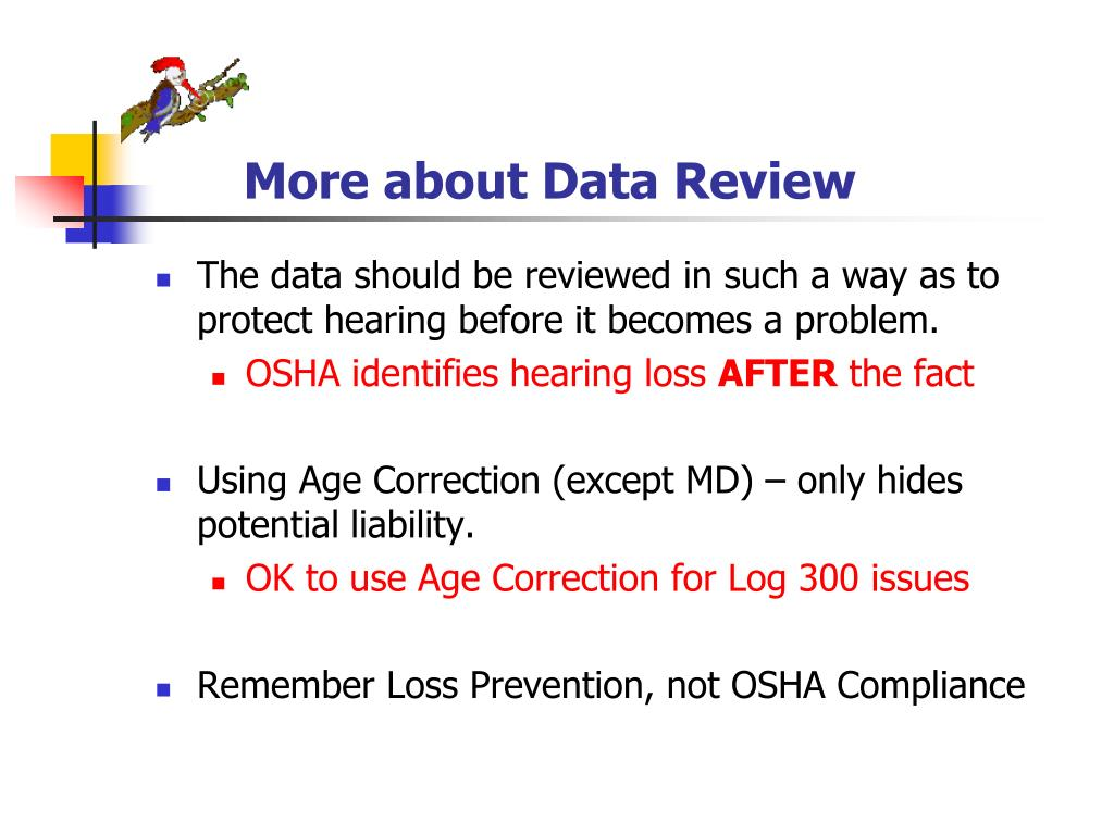 More about Data Review