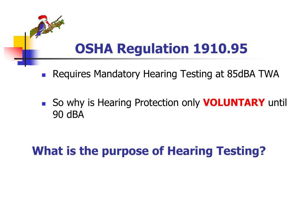 OSHA Regulation 1910.95