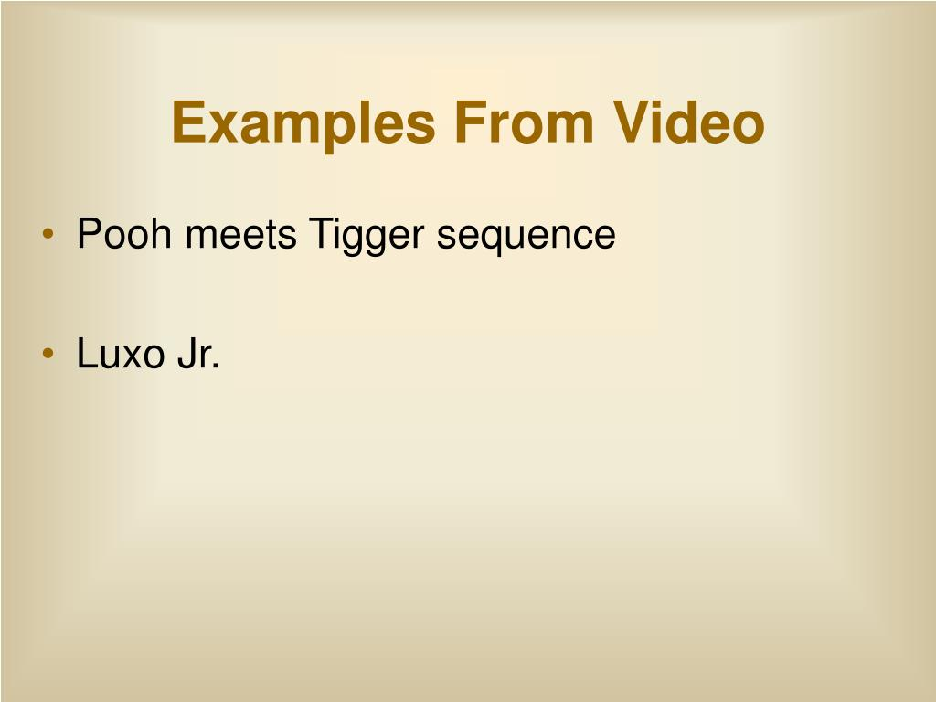 Examples From Video