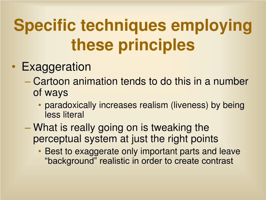 Specific techniques employing these principles