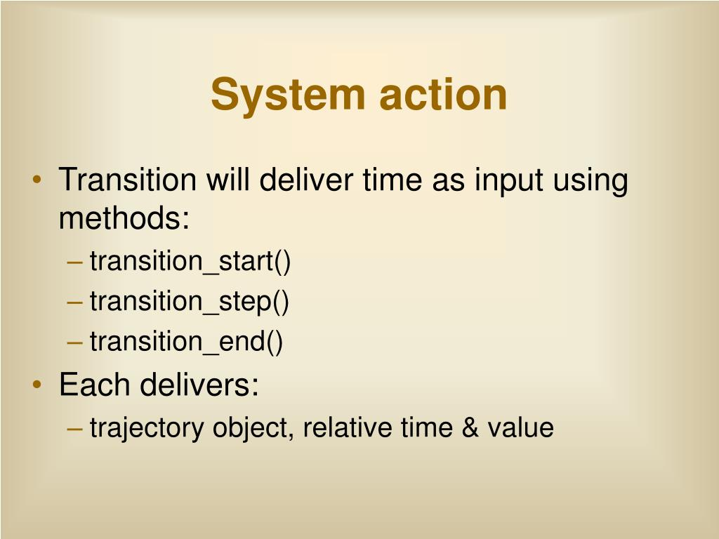 System action
