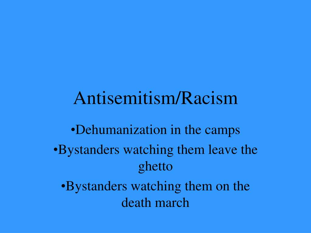 Antisemitism/Racism