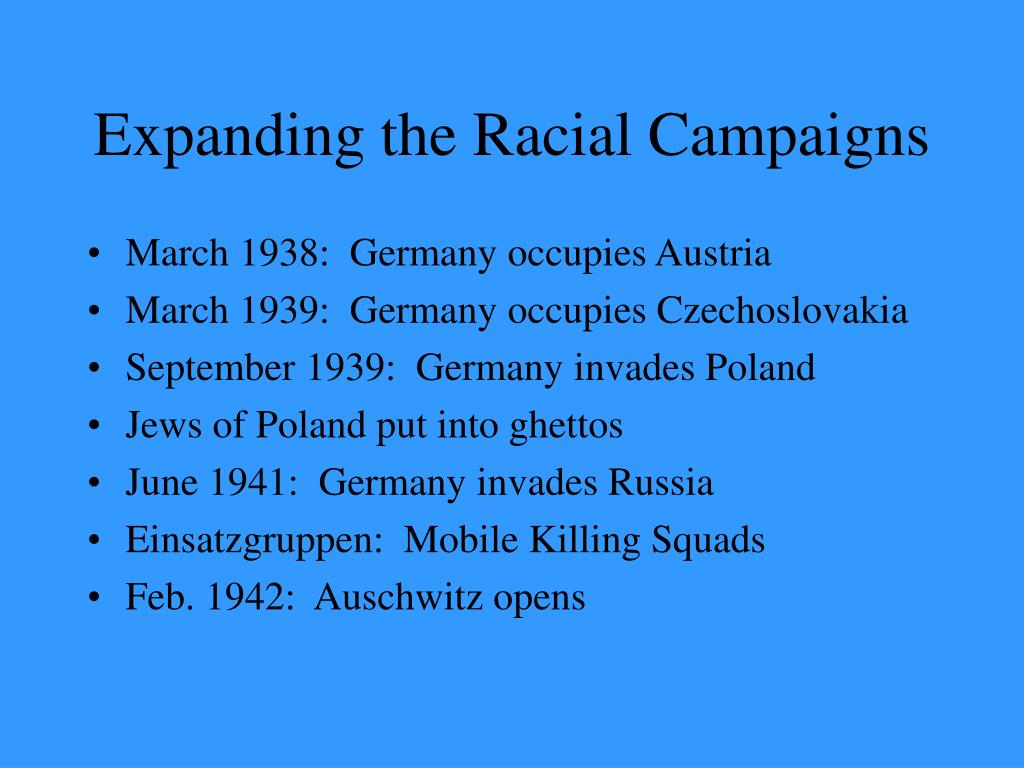 Expanding the Racial Campaigns