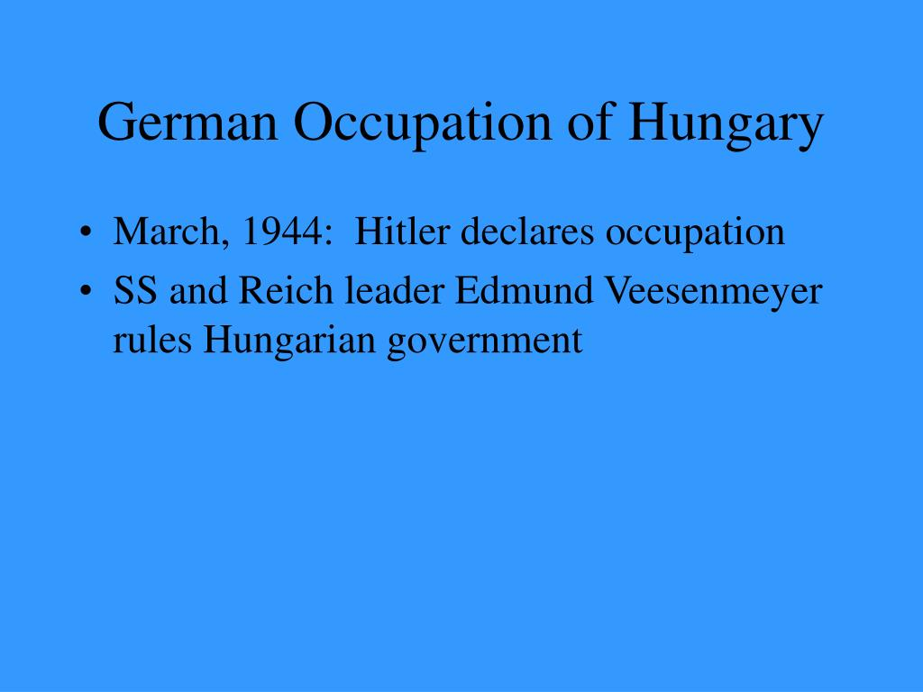 German Occupation of Hungary