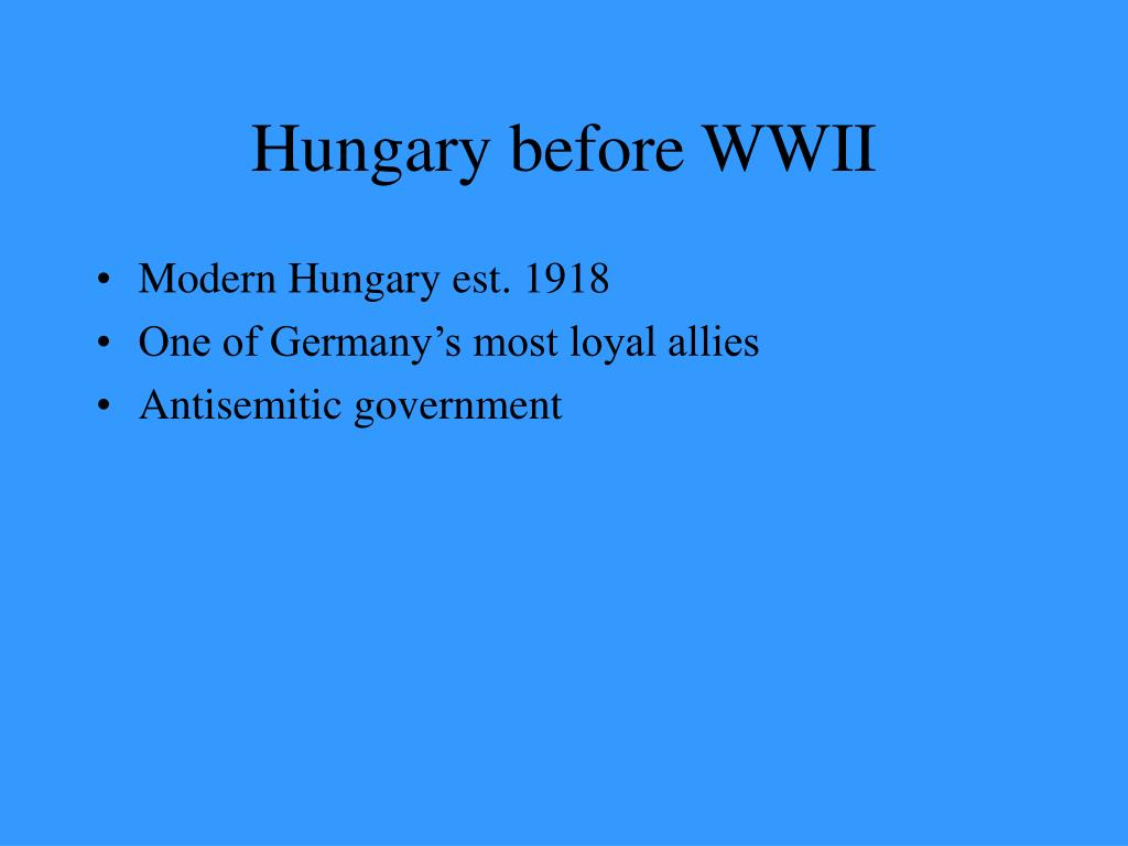 Hungary before WWII