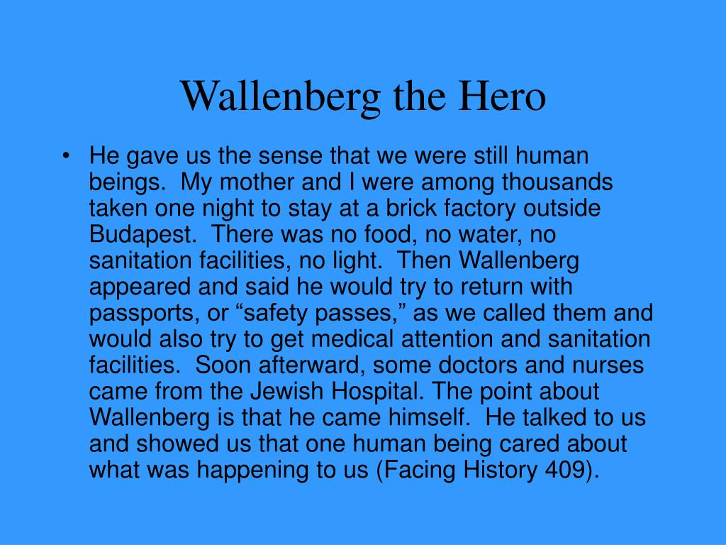 Wallenberg the Hero