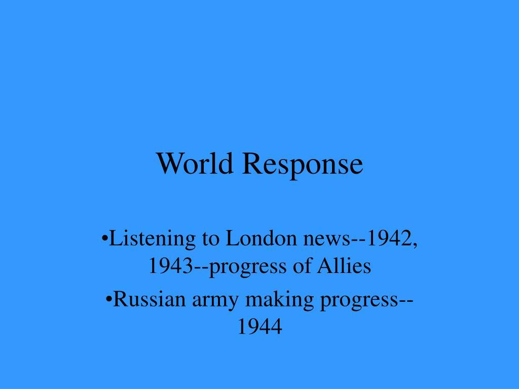 World Response