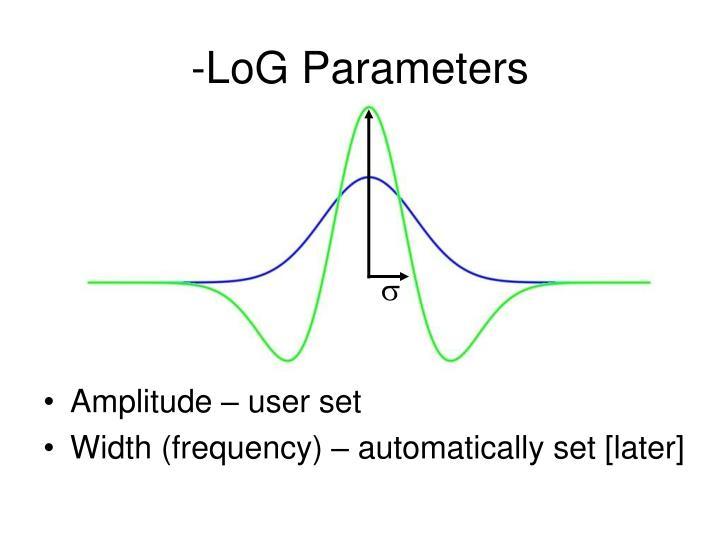 -LoG Parameters