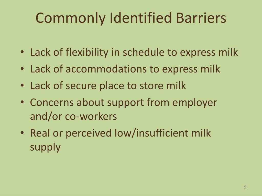 Commonly Identified Barriers