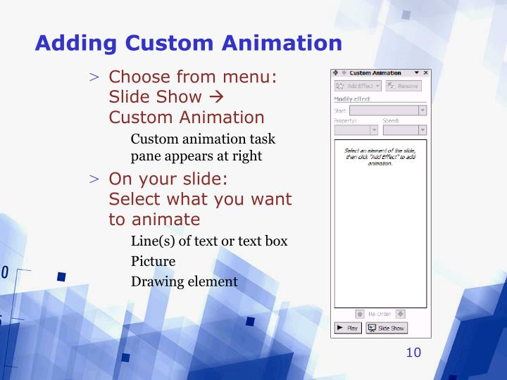 Adding Custom Animation