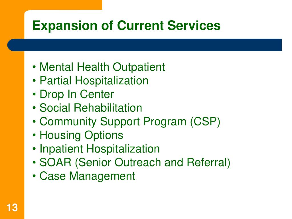 Expansion of Current Services