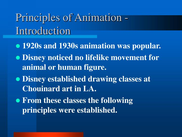 Principles of Animation - Introduction