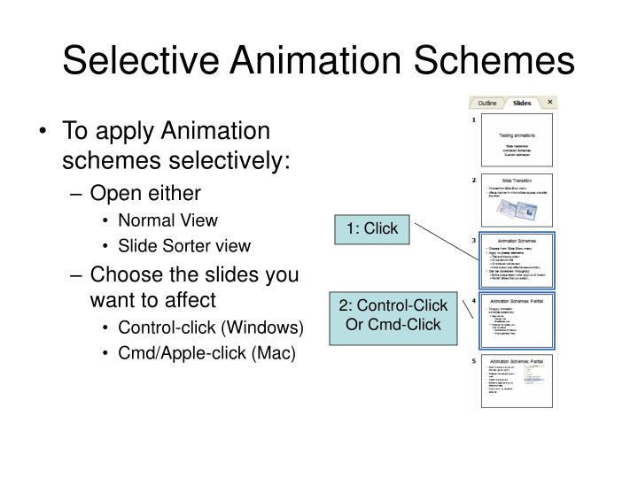 Selective Animation Schemes
