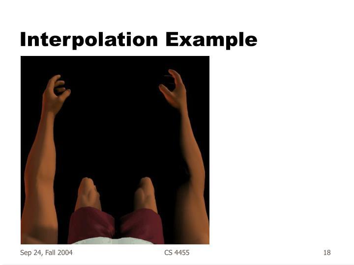 Interpolation Example