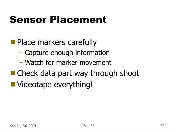 Sensor Placement