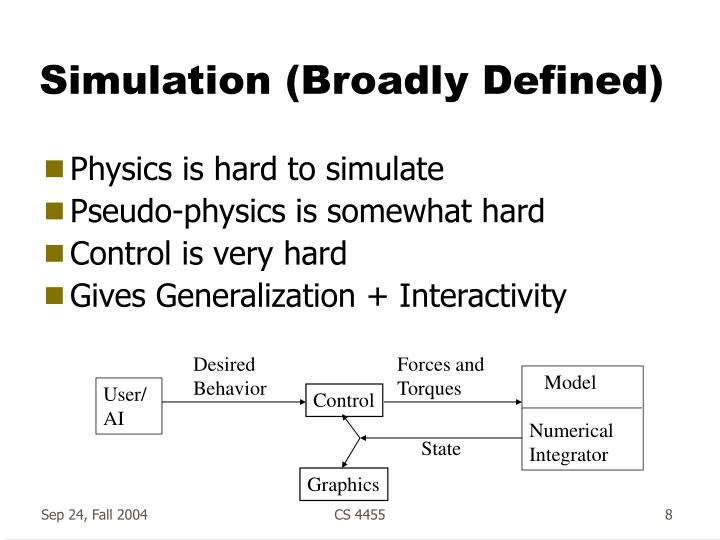 Simulation (Broadly Defined)