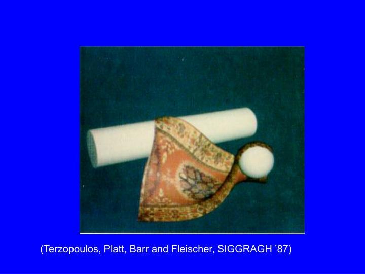 (Terzopoulos, Platt, Barr and Fleischer, SIGGRAGH '87)