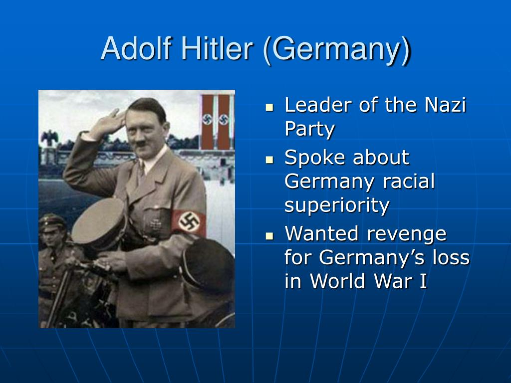 the rise of adolf hitler to absolute power in nazi germany These conditions provided the chance for the rise of a new leader, adolf hitler and a new and glorious germany the nazis appealed rise to power was.