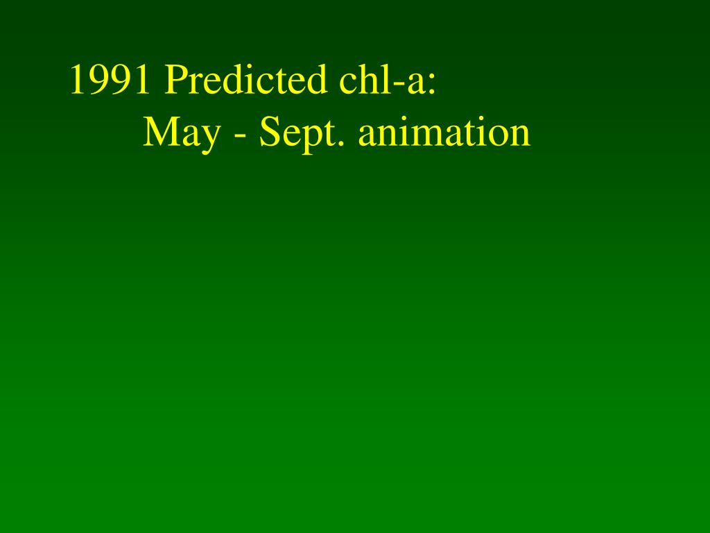 1991 Predicted chl-a: