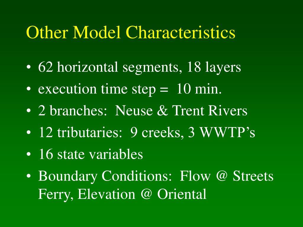Other Model Characteristics