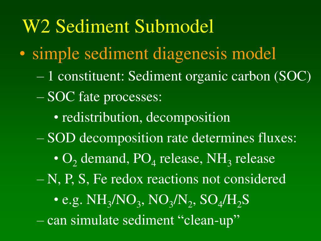 W2 Sediment Submodel