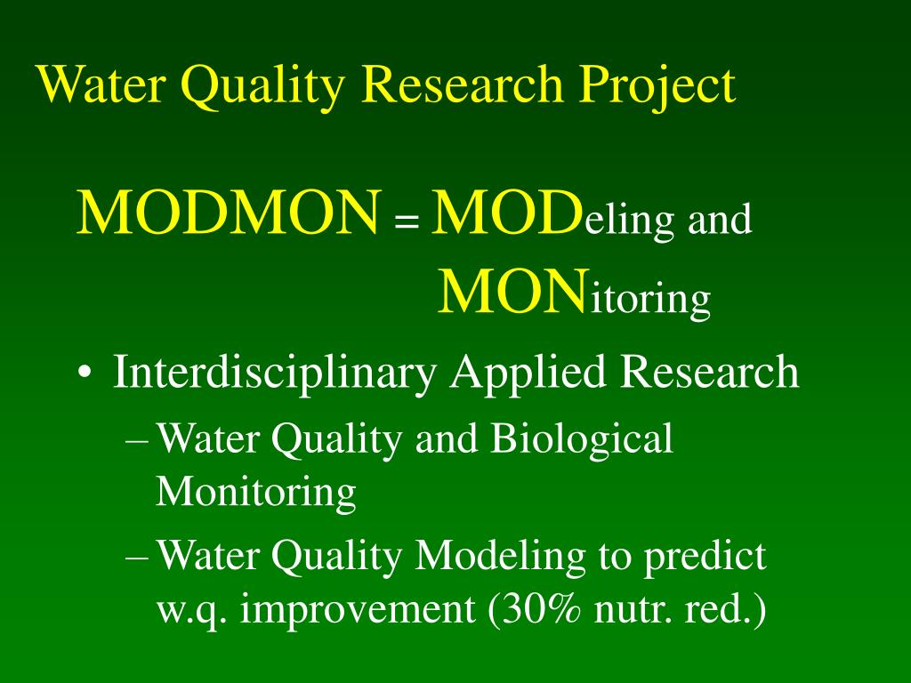 Water Quality Research Project