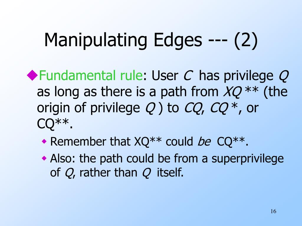 Manipulating Edges --- (2)