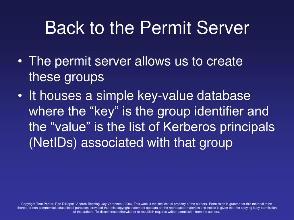 Back to the Permit Server