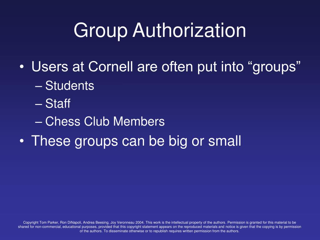 Group Authorization