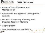 cissp cbk areas