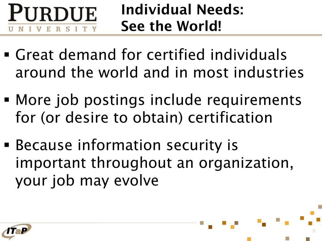 Individual Needs: