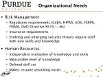 organizational needs
