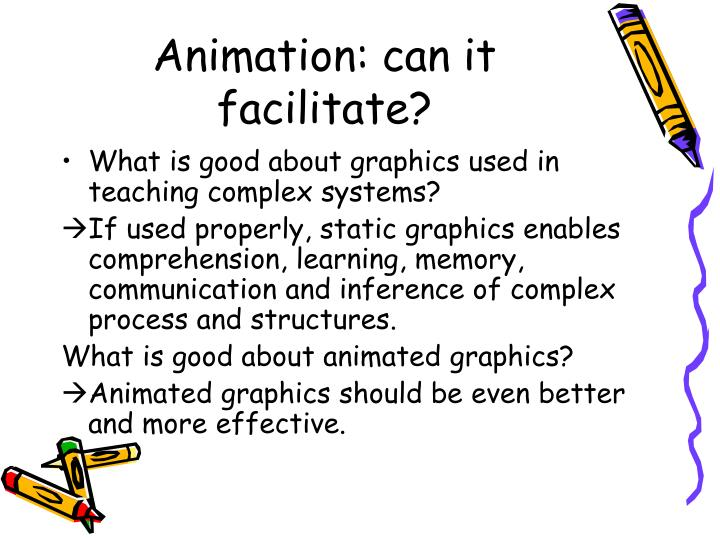 Animation can it facilitate